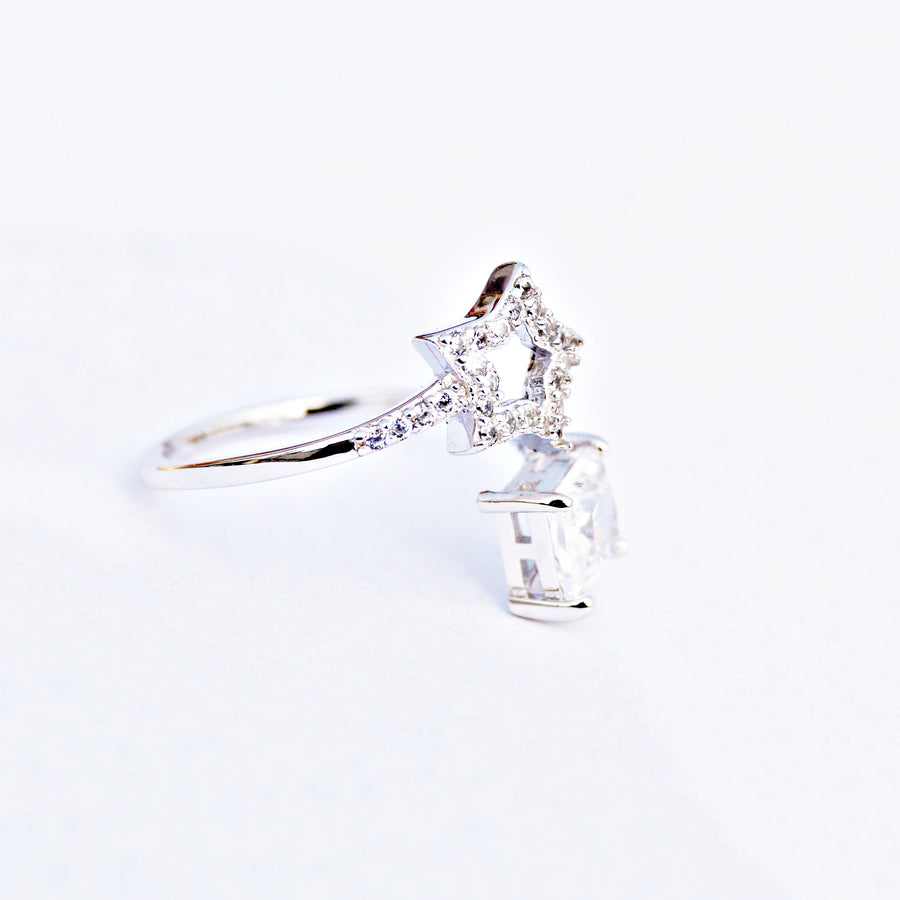The Star and Diamond Adjustable Ring