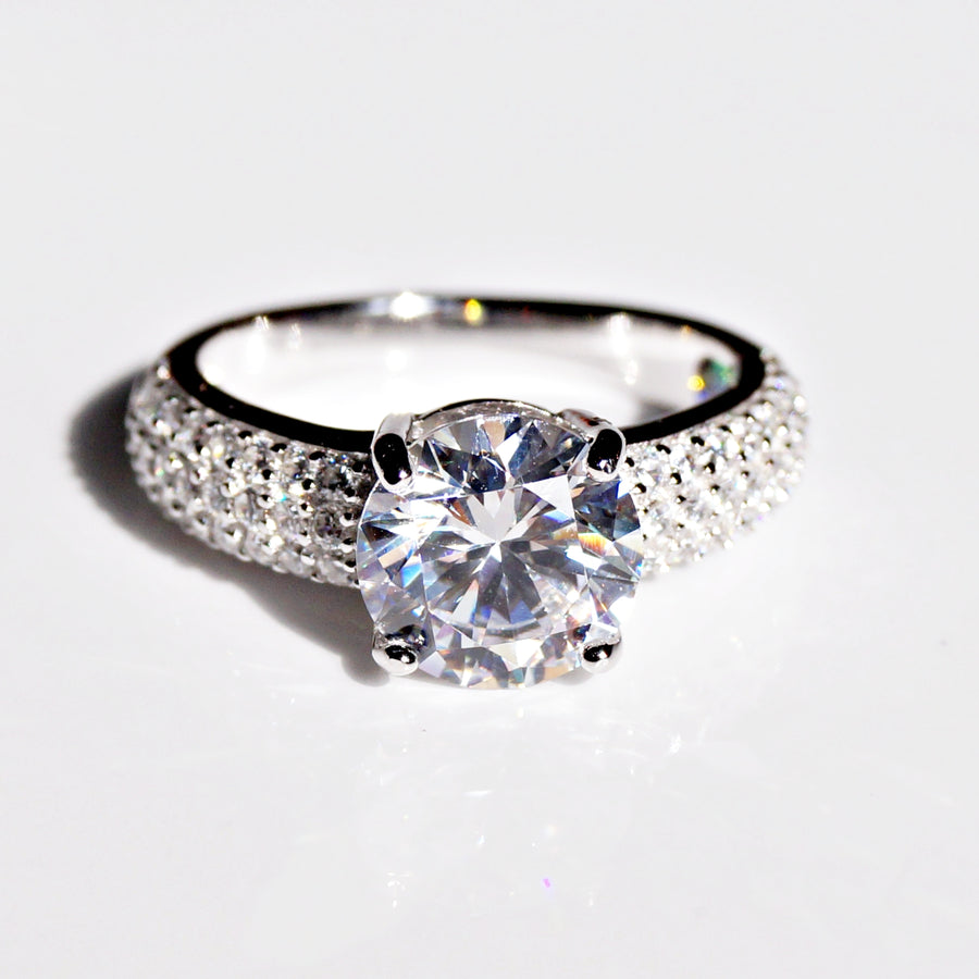 The Solitaire with Rich Cz Band Ring