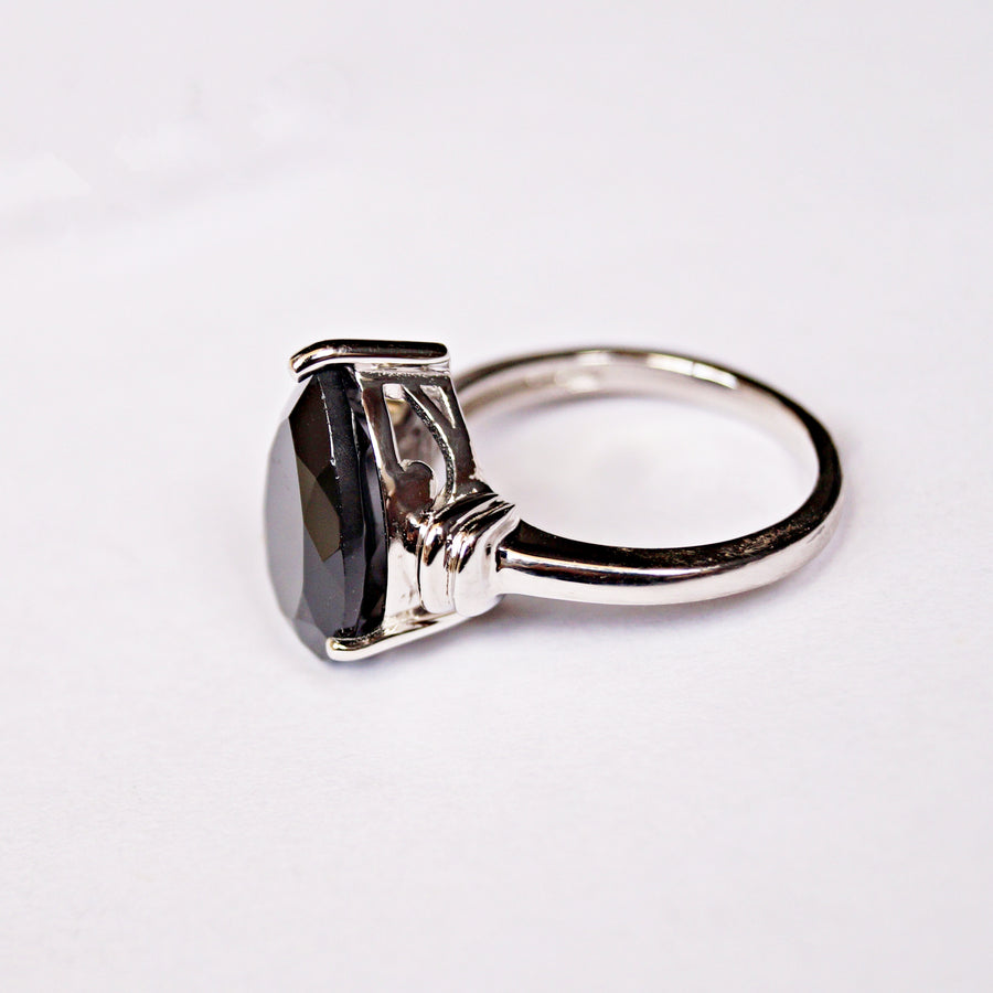The Pear Cut Onyx Ring