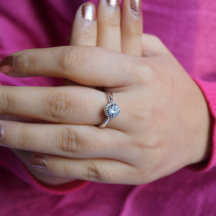 The Halo Solitaire Ring