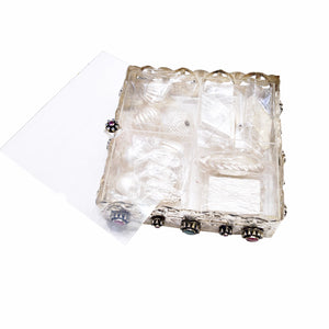 Pure Silver Mithai-Mewa Box (18cm) with Contents