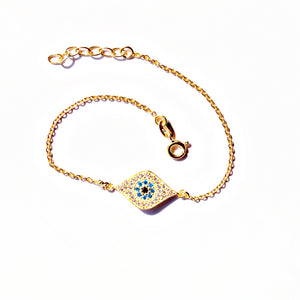 Golden Evil Eye Kids Anklet (Single/Pair)