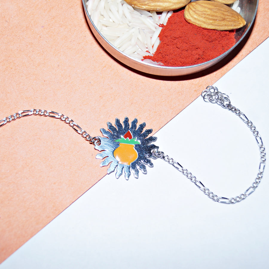 The Ujwal Kalash Bracelet Rakhi