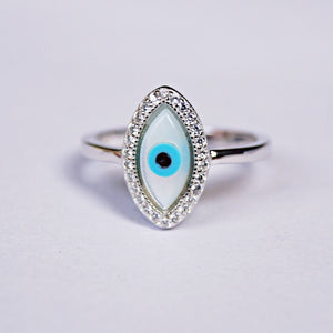 The Cz Lash Evil Eye Ring