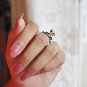 The Solitaire Flower Ring
