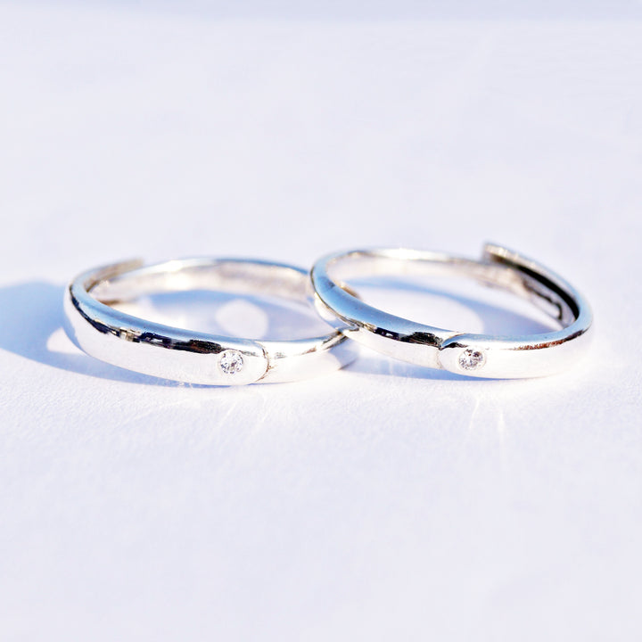 The Classic Adjustable Couple Ring Band (Pair)
