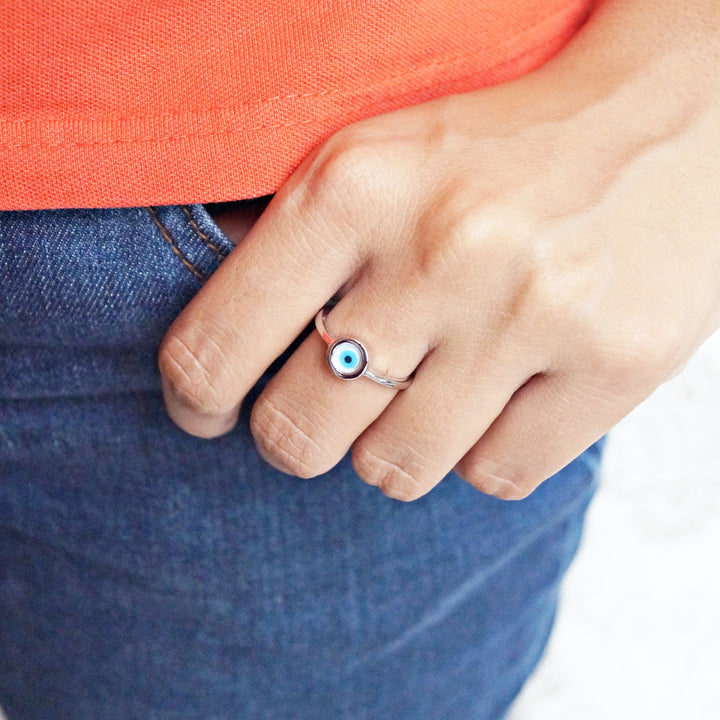 The Round Evil Eye Ring