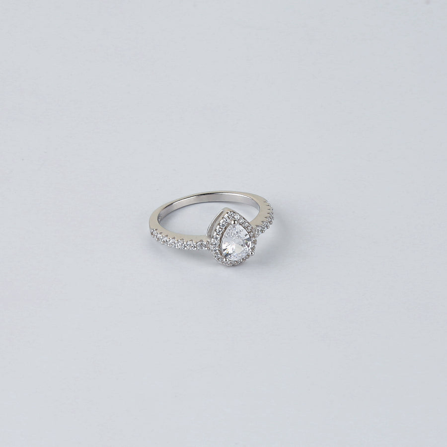 The Drop Shape Solitaire Ring