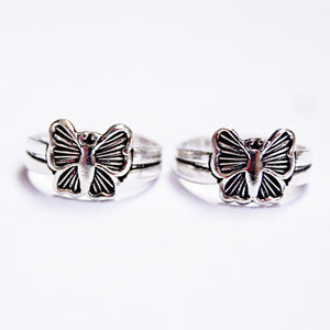The Adonis Butterfly Toe Rings