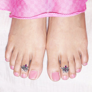The Damselfly Toe Rings
