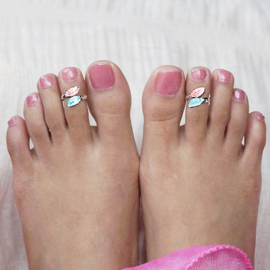 The Colourful Leaf and Leaf Toe Rings