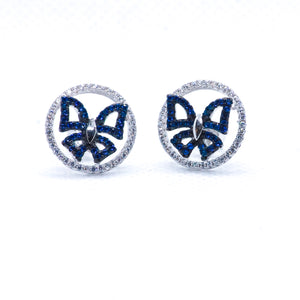 The Azure Butterfly Studs