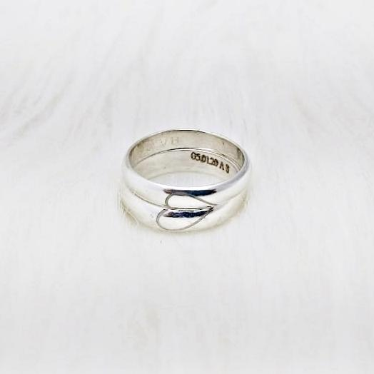 Design Carved Customised Twining Ring Band (Pair)