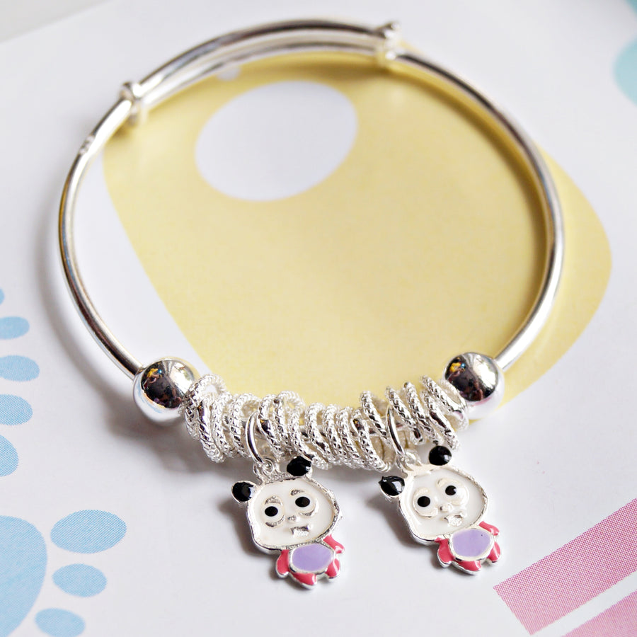 Panda and Hoops Baby Kaduli Bracelet