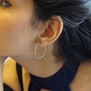 Timeless Diamond Hoop Earrings