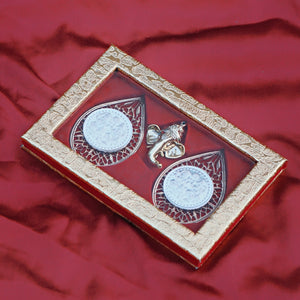 Pure Silver Coin Set with Ganesha Packaging