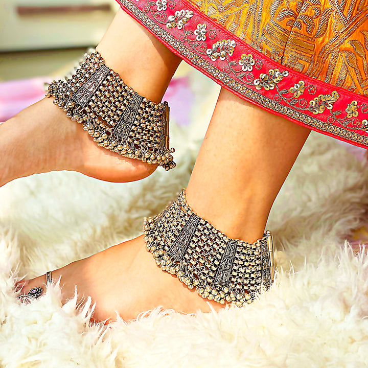 Exclusive Heavy Mayur and Ghungru Anklet (Pair)
