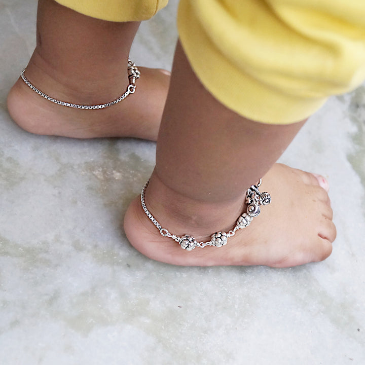 The Flower Beads Kids Anklet (Pair)