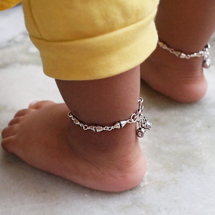 The Mridangam Beads Kids Anklet (Pair)