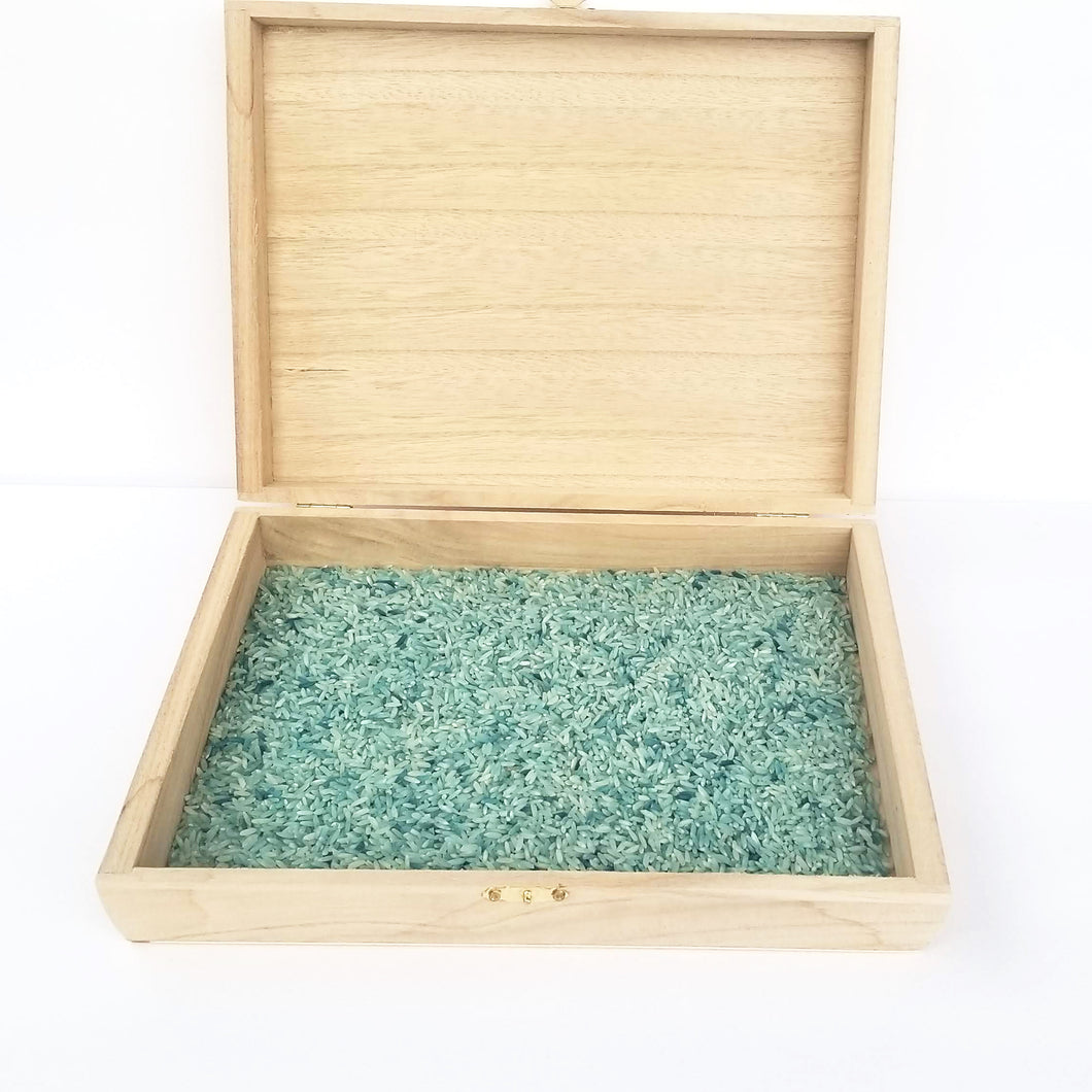 Wooden sensory box with filler - Wonder's Journey