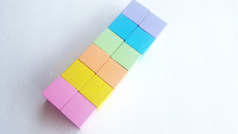 Pastel stacking blocks