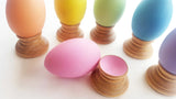 Montessori wooden egg and cup puzzle
