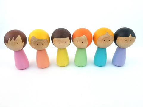 Pastel peg doll set