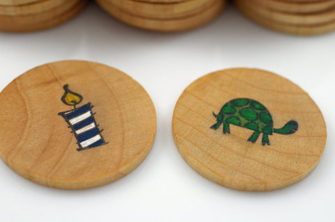 Wooden matching game
