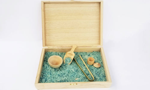 Sensory box with tool set and filler - Wonder's Journey