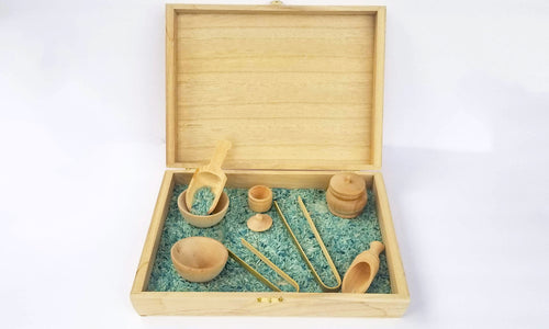 Sensory box with Deluxe tool set and filler - Wonder's Journey