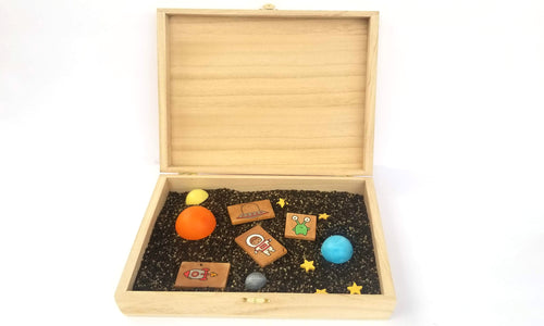 Space Sensory bin and tools set - Wonder's Journey