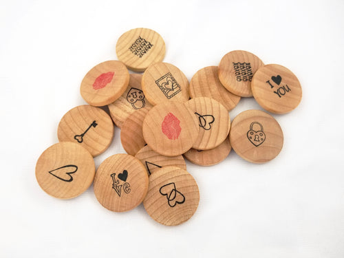 Valentine's Day wooden matching game - Wonder's Journey