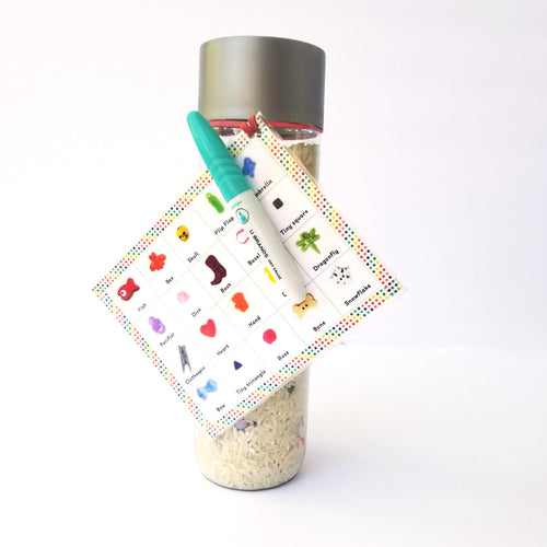 The Essential I spy bottle with white rice - Wonder's Journey
