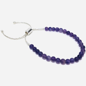 dainty beaded gemstone bracelet for stress relief