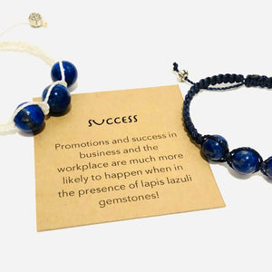 lapis lazuli boho style gemstone bracelet for success