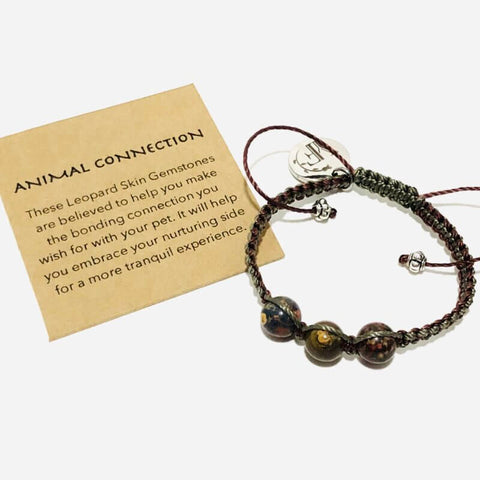 animal pet connection gemstone beads