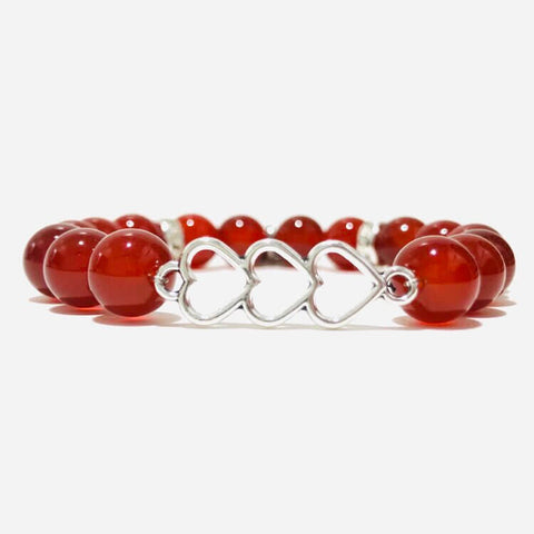 SERENDIPITY in LOVE - Stretch Bracelet for Finding Love | Red Carnelians