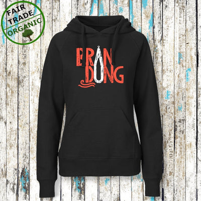 """BRANDUNG"" Mädels Hoodie Black (BIO/ FAIR TRADE) - Ankerglanz"