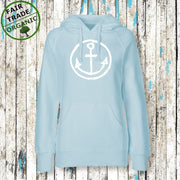"""HAPPY ANKER Hoodie"" Mädels (Bio/ Fair Trade) - Ankerglanz"
