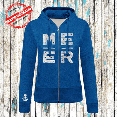 """MEER JACKE"" Ocean Blue Heather / Bio (Mädels) - Ankerglanz"