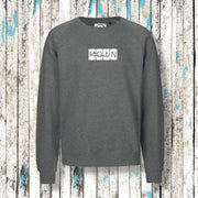 """MOIN"" Kerle Sweatshirt Fair Trade (Grau Heather) - Ankerglanz"