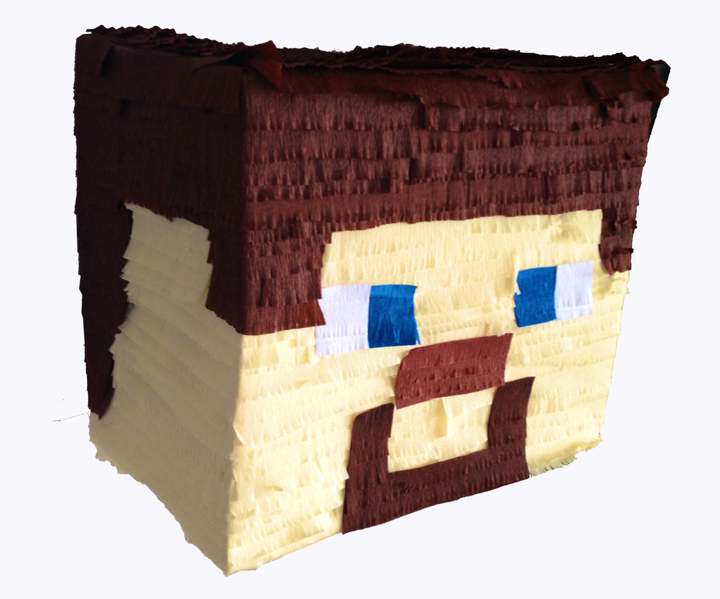 Handmade Pinata Of Steve From Minecraft Pinataspinatas