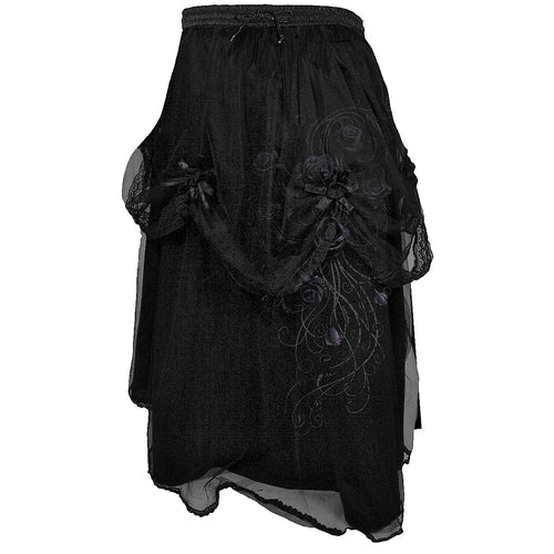 ENTWINED - Black Rose Corsage Skirt Black