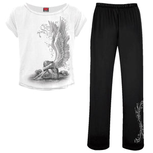 ENSLAVED ANGEL - 4pc Gothic Pyjama Set