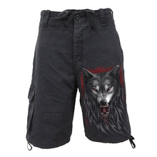 Load image into Gallery viewer, LEGEND OF THE WOLVES - Vintage Cargo Shorts Black