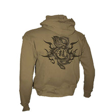 Load image into Gallery viewer, DRAGON MARK  - Longsleeve Vintage Hoody Stone