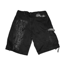 Load image into Gallery viewer, WHITE TIGER  - Vintage Cargo Shorts Black