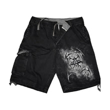 Load image into Gallery viewer, REAPER  - Vintage Cargo Shorts Black