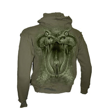 Load image into Gallery viewer, VENOMOUS  - Vintage Hooded Longsleeve T-Shirt Olive