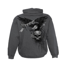 Load image into Gallery viewer, DIE FREE  - Hoody Charcoal